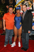 Rex Lee with Niecy Nash and Paul Reubens — Stock Photo