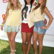 Sabrina Bryan with Kiely Williams and Adrienne Bailon — Stock Photo