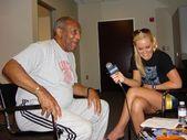 Bill Cosby, Katie Lohmann — Stock Photo