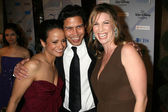 Judy Reyes with Anthony Ruivivar and Yvonne Jung — Stock Photo