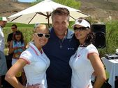 Katie Lohmann with Daniel Baldwin and Karen McDougal at the 7th Annual Playboy Golf Scramble Championship Finals. Lost Canyons Golf Club, Simi Valley, CA. 03-30-07 — Stock Photo