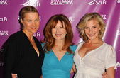 Lucy Lawless with Mary McDonnell and Katee Sackhoff — Stock Photo