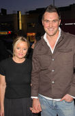 Lucy Davis and Owain Yeoman — Stock Photo