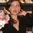 "Maggie Gyllenhaal Signing Copies of ""SherryBaby"" — Stock Photo"
