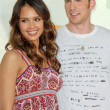 Jessica Alba and Chris Evans — Stock Photo