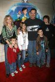 Patrick Warburton and family — Stock Photo