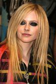 Avril lavigne neonowe wygląd — Zdjęcie stockowe