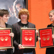 Daniel Radcliffe with Rupert Grint and Emma Watson - Stock Photo