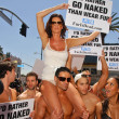 Janice Dickinson Modeling Agency Join PETA — Stock Photo