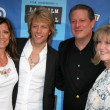 Постер, плакат: Jon Bon Jovi and wife Dorthea with Al Gore and Tipper Gore