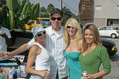 Adam Carolla and friends at Adam Carollas Charity Car Wash, sponsored by 97.1 Free FM, to benefit Talk About Curing Autism, Cooks Corner Car Wash, Hollywood, CA 08-25-06 — Stock Photo
