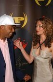 Russell Simmons and Rebecca Gayheart — Stock Photo