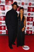 Jimmy Jam and wife Lisa — Stock Photo