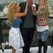 ������, ������: Adrienne Bailon with Golan Yosef and Belinda Peregrin at The Cheetah Girls 2 interview session The Mondrian Hotel West Hollywood CA 08 01 06