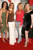Juliana Zanrillo and Ariana Richmond with Yulia Nazarenro and Sara G. — Stock Photo
