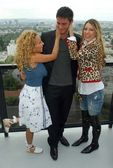 Adrienne Bailon with Golan Yosef and Belinda Peregrin at The Cheetah Girls 2 interview session. The Mondrian Hotel, West Hollywood, CA. 08-01-06 — Stock Photo