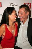 Tia Carrere and Tom Sizemore — Stock Photo