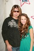 Billy Ray Cyrus, Miley Cyrus — Foto Stock