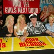Hugh Hefner and The Girls Next Door In-Store Signing — Stock Photo
