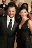 Kevin Weisman and wife Jodi at the 58th Annual Creative Arts Emmy Awards. Shrine Auditorium, Los Angeles, CA. 08-19-06 — Stock Photo