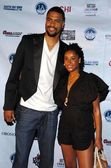 Tyson Chandler and guest — Stock Photo