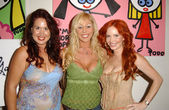 Fileena Bahris, Mary Carey and Phoebe Price — Stock Photo
