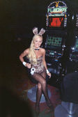 Katie Lohmann Unveils New Playboy Bunny Costume, featuring a leopard print, at the Palms Casino and Hotel, Las Vegas, NV 09-16-06 — Stock Photo