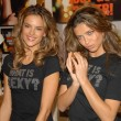 Постер, плакат: Alessandra Ambrosio and Adriana Lima at the launch of the What is Sexy list by Victorias Secret Victorias Secret Los Angeles Ca 04 25 06