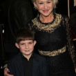 Helen Mirren and her nephew — Stock Photo