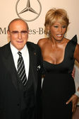 Clive Davis and Whitney Houston — Stock Photo
