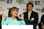 Barbara Boxer, Leonardo Dicaprio — Stock Photo