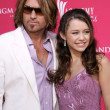 Stock Photo: Billy Ray Cyrus and daughter Destiny Cyrus