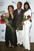 Jasmine Guy with Michael Misick and LisaRaye — Stock Photo