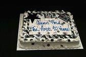 Glenn Ford's Birthday Cake — Stock Photo