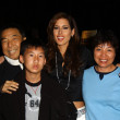 Shen Hsu and family with Kerri Kasem - Stock Photo
