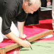 Kevin Costner Hand and Foot Print Ceremony — Stockfoto