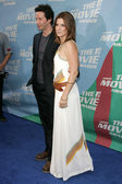 Keanu Reeves and Sandra Bullock arriving at the 2006 MTV Movie Awards. Sony Pictures, Culver City, CA. 06-03-06 — Stock Photo