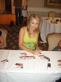 Alana Curry at the Bench Warmer World Cup 2006 Trading Cards Autograph Session. Bel Age Hotel, Los Angeles, CA. 06-22-06 — Stock Photo