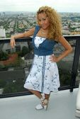 Adrienne Bailon at The Cheetah Girls 2 interview session. The Mondrian Hotel, West Hollywood, CA. 08-01-06 — Stock Photo