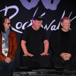 Stock Photo: Geddy Lee, Neil Peart, Alex Lifesonat RUSH Induction Into Guitar Center