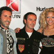 Alexander Caucant and Jules Naouri with Blu Cantrell wearing Clothing by Antik Denim at Saturns X-Games 12 Party. 6820 Hollywood Blvd, Hollywood, CA. 08-02-06 — Stock Photo #16484797
