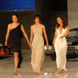 Stock Photo: AlexandrHedison with Katherine Moennig and Erin Daniels on runway at General Motors Annual Ten Event. Vine Blvd, Hollywood, CA. 02-28-06