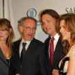 Kate Capshaw and Steven Spielberg with Tom Hanks and Rita Wilson - Stock fotografie