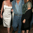 Anne-Marie Mogg with Jay Leno and Jenny McShane - 图库照片