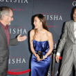 Steven Spielberg with Michelle Yeoh and Ken Watanabe — Stock Photo #16535445