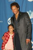 Gary Dourdan and daughter Nyla — Stock Photo