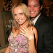 Alana Curry and Burke Bryant at the Grand Opening of the Bling Jewelry Co., featuring jewelry designer Fileena Bahris, Hollywood, CA 12-02-05 - Stock Photo