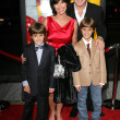 Stock Photo: Adrienne Barbeau and Billy VZandt with their sons William and Walker at Wizard of Oz, Ruby Red Slipper DVD GalScreening, Samuel Goldwyn Theatre, Beverly Hills, C10-19-05