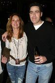 Tanya Roberts and Adam Carolla — Stock Photo