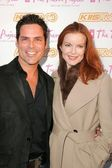 Marcia Cross and friend James Lecesn — Stockfoto
